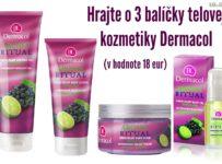 Hrajte o 3 balíčky telovej kozmetiky Dermacol