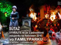 Súťaž o 4x po 2 vstupenky na Halloween vo Familyparku
