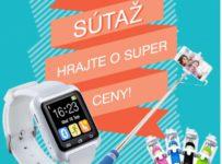 Súťaž o smart hodinky a selfie držiaky