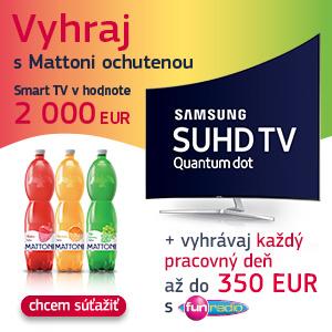 Zbierajte etikety z ochutenych vôd Mattoni a vyhraj TV SAMSUNG
