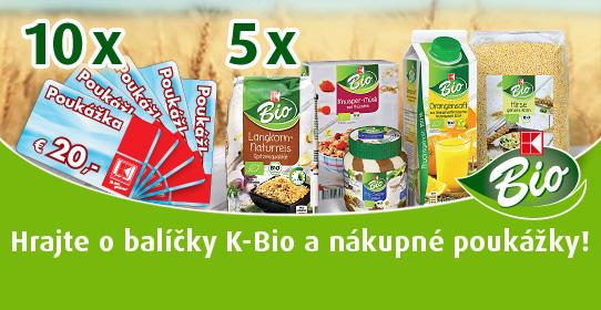 Hrajte o balíčky K-Bio a nákupné poukážky