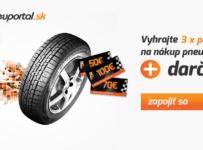 Vyhrajte 3 poukazy na nákup kvalitných pneumatík