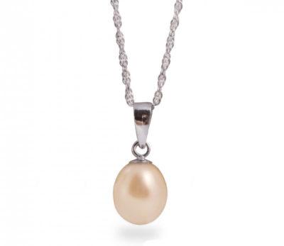 Vyhrajte strieborný náhrdelník s broskyňovou perlou