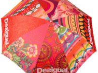 Vyhrajte farebný oranžový dáždnik Desigual!