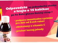 Hrajte o 15 balíčkov so sirupmi Beta glucan