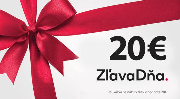 Vyhraj darčekový poukaz v hodnote 20€ na ZlavaDna.sk