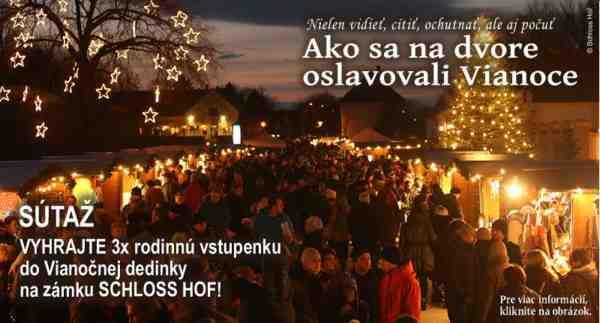 Súťaž o vstupenky do Vianočnej dedinky na zámku Schloss Hof