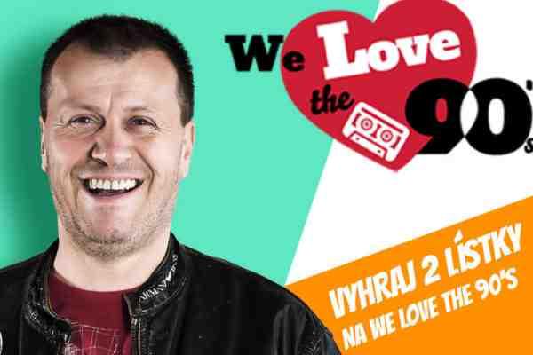 Vyhraj 2 vstupenky na We Love The 90's vol.2!
