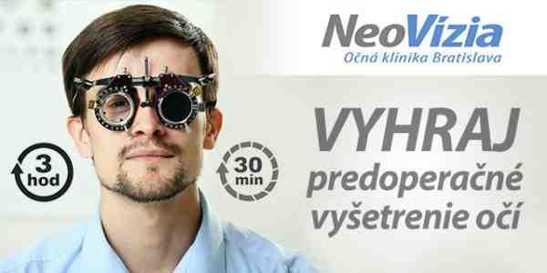 Vyhraj komplexné predoperačné vyšetrenie očí