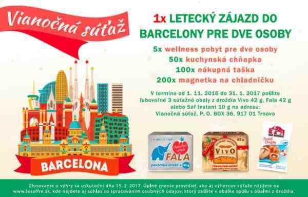 Vyhrajte 4-dňový zájazd do Barcelony pre 2 osoby