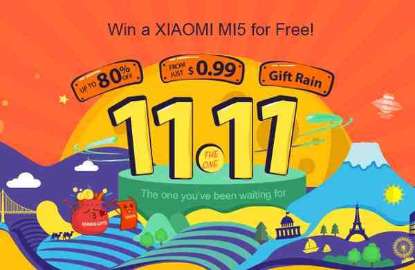 Vyhraj Xiaomi Mi5 počas Nákupného festivalu 11.11.
