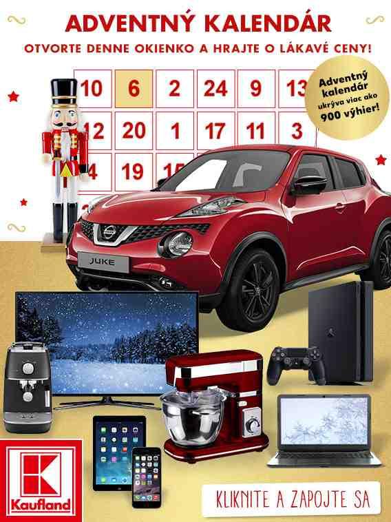 Adventný kalendár Kaufland 2016
