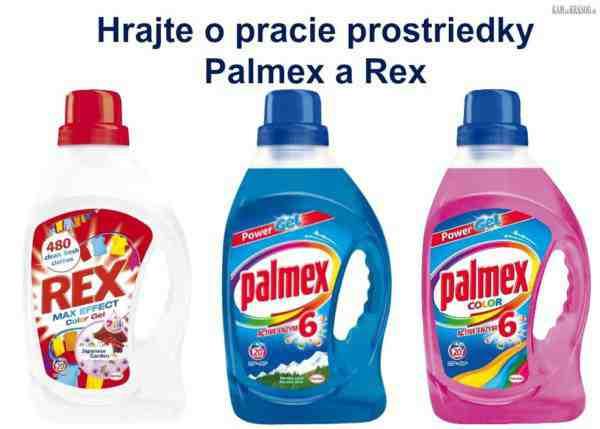 Hrajte o 3 balíčky produktov Henkel s pracimi prostriedkami Palmex a Rex