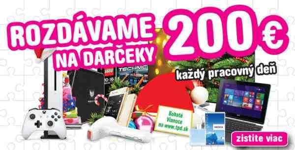 Vyhrajte 200€ na vianočné darčeky od TPD