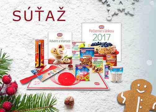Adventný kalendár, vyhrajte vianočný balíček výrobkov Dr. Oetker