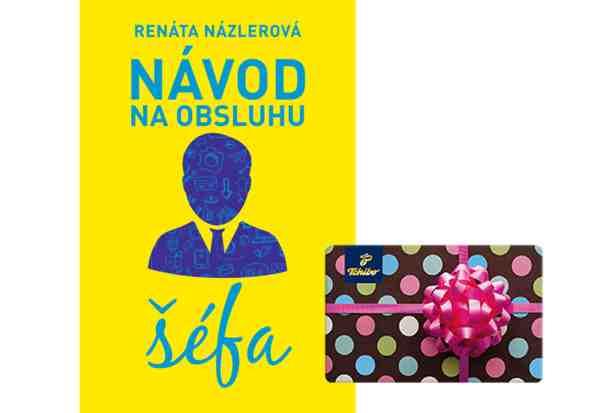 Súťaž o knihu Návod na obsluhu šéfa s poukážkou Tchibo