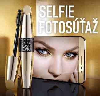 Selfie fotosúťaž s Max Factor!