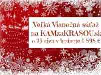 Veľká Vianočná súťaž na KAMzaKRASOU.sk o 35 cien v hodnote 1 898 €
