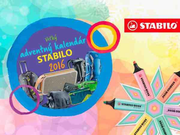 Veľký adventný kalendár STABILO 2016