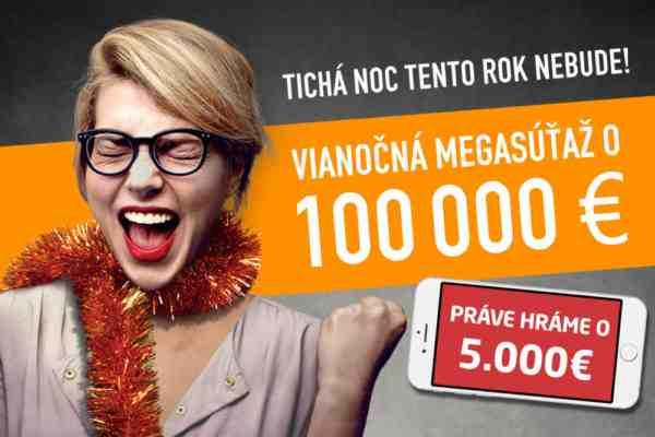 Vianočná megasúťaž, hráme o bombastických 100.000 EUR!