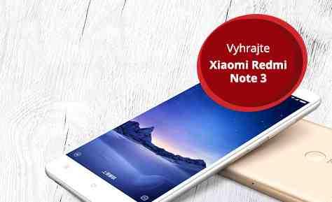 Vyhrajte na Sóde Xiaomi Redmi Note 3
