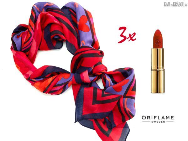 Hrajte o tri zvodné šatky a rúže od Oriflame!