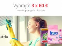 Vyhrajte poukážku v hodnote 3 x 60 € na nákup rakúskej drogérie