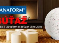 Súťaže o 5 difúzorov vône Lanaform Java