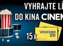 Súťaže o lístky na akékoľvek 2D predstavenie z ponuky kín CINEMAX