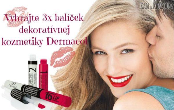 Valentínska súťaž s Dermacol Vyhraj rúž za bozk!