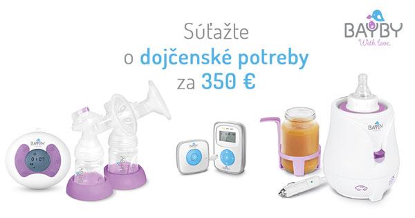Vyhrajte špičkové dojčenské potreby v hodnote 350 €