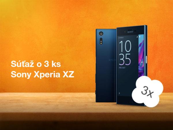 Súťaž o tri špičkové smartfóny Sony Xperia XZ od Orange