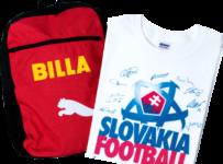 Hrajte s HÝBSA Slovensko o športový batoh a tričko s podpismi futbalových reprezentantov