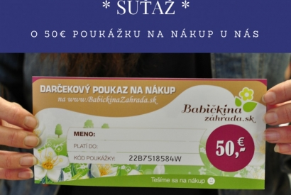 Vyhraj darček - 50€ poukážku na nákup