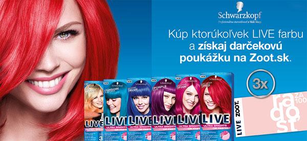 Kúp si akékoľvek LIVE farby na vlasy od Schwarzkopf a vyhraj