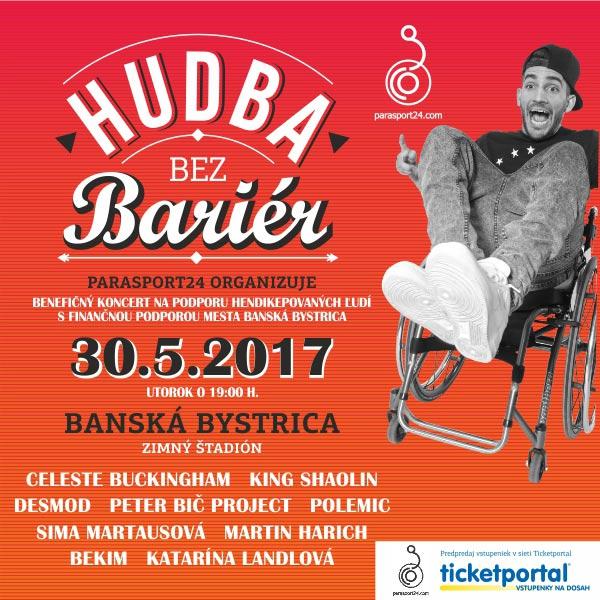 Súťaž o 2×2 lístky na koncert Hudba bez barier 2017