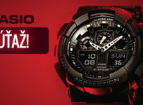 Súťaž o panské hodinky Casio G-Shock GA-100-1A1