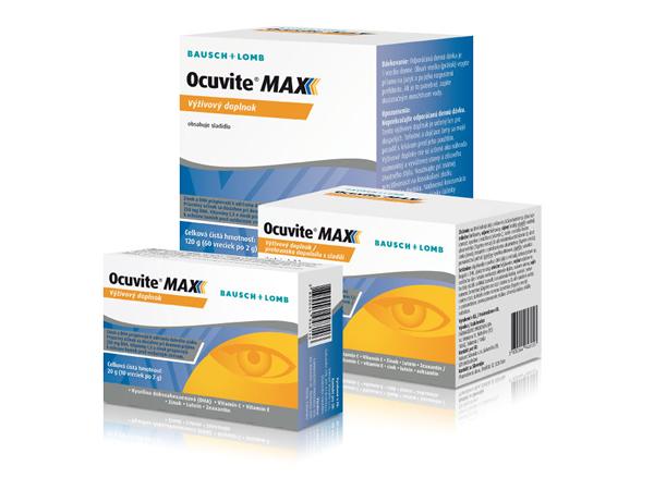 Súťažte o 3 výživové doplnky Ocuvite MAX s obsahom 60 ks vreciek