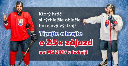 Tipujte a hrajte o 25x zájazd na MS v hokeji