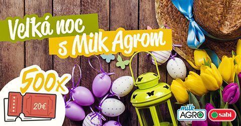 Veľkonočná súťaž s Milk-Agrom o jednu z 500 nákupných poukážok v hodnote 20€