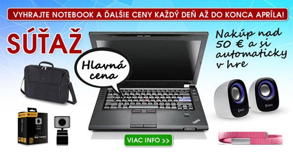 Vyhrajte notebook a ďalšie ceny už dnes