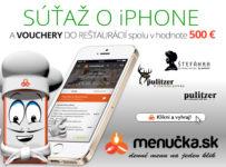 Súťaž s appkou Menučka.sk o iPhone a ceny spolu za 500€!