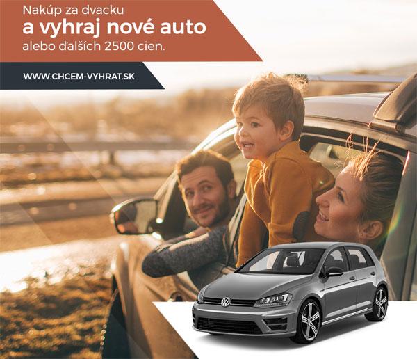 Nakúp za dvacku a vyhraj nové auto alebo ďalších 2500 cien