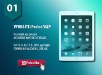 Aktualizujte si údaje cez ePobočku a vyhrajte 4x iPad