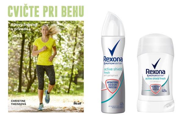 Súťažte o knihu Cvičte pri behu z vydavateľstva Ikar a balíček Rexona Active Shield Women Antiperspirant