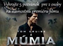 Vyhrajte 5 pozvánok na slávnostnú premiéru filmu MÚMIA pre 2 osoby