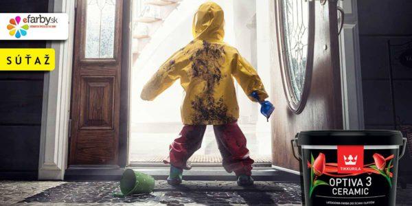 Vyhraj umývateľnú farbu Optivu s odtieňom podľa vlastného výberu