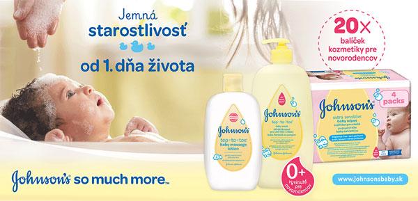 Vyhrajte 20 x balíček výrobkov JOHNSON'S pre novorodencov