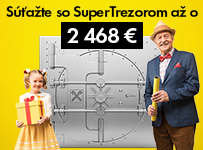 Súťažte so SuperTrezorom až o 2 468 €