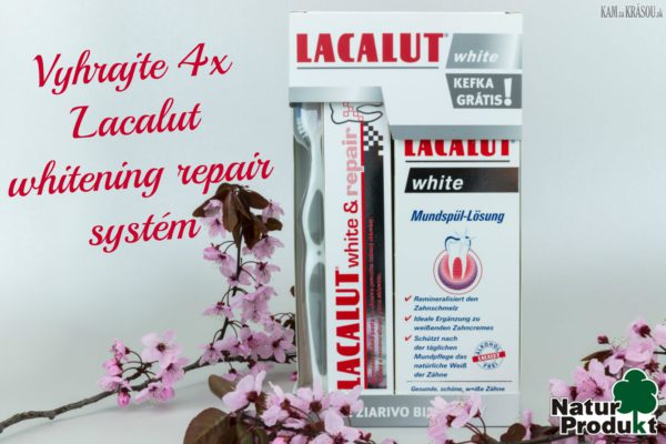 Vyhrajte 4x Lacalut whitening repair systém